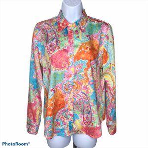 CHAPS L/S Woman's Shirt   Bright Paisley   PL